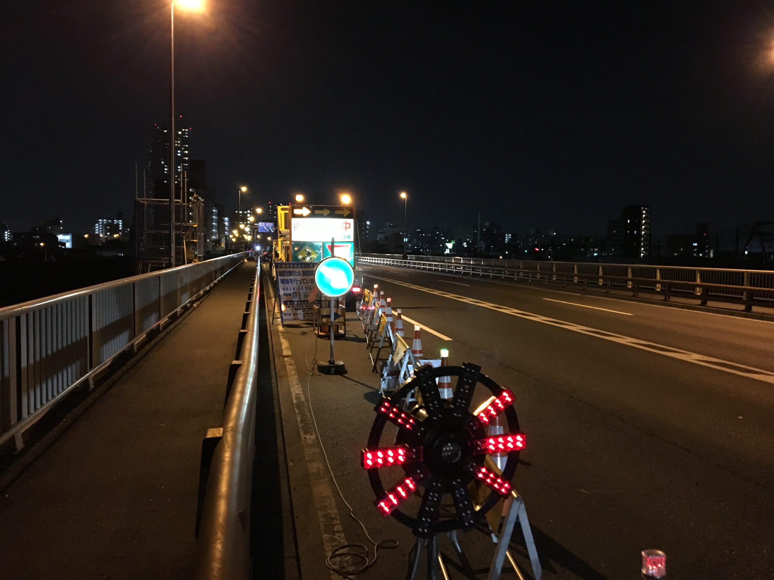 葛飾橋にて